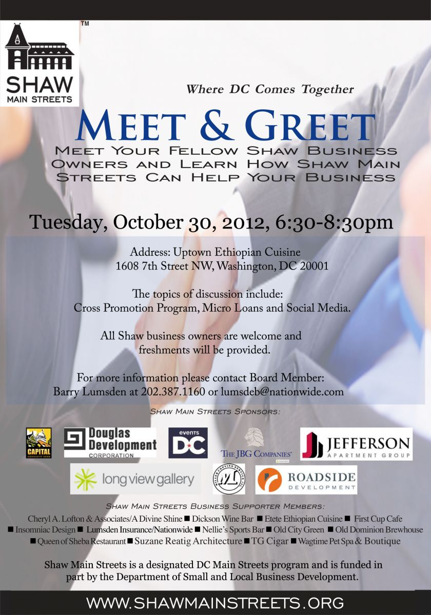 business meet and greet events